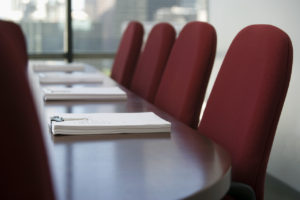 Empty Conference Room --- Image by © Bill Varie/Corbis